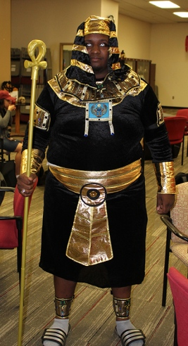 Malcolm White came dressed as Osiris.
